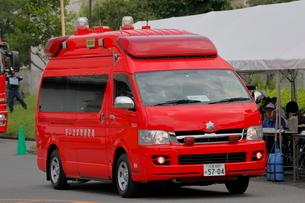 消防車 指揮車の写真素材 [FYI03128342]