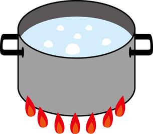 お湯が沸騰している鍋のイラストの写真素材 [FYI03128372]