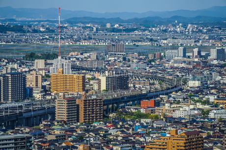 晴天の仙台市内の街並みの写真素材 [FYI03128587]