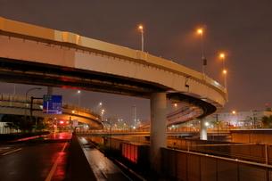 大井ジャンクションの夜景の写真素材 [FYI03129140]