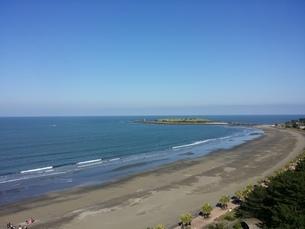 空と海の青の写真素材 [FYI03129154]