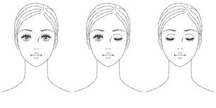 女性の顔 正面のイラスト素材 [FYI03129783]
