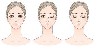 女性の顔 正面のイラスト素材 [FYI03129784]