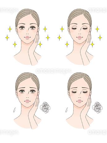 女性の顔 正面のイラスト素材 [FYI03129787]