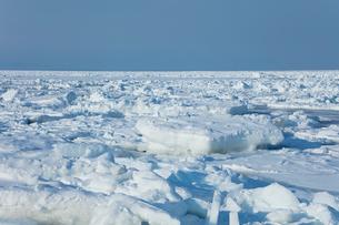 オホーツク海の流氷の写真素材 [FYI03130166]