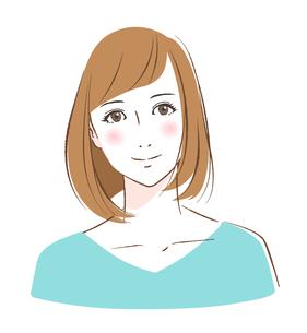 微笑む若い女性のイラスト素材 [FYI03130275]