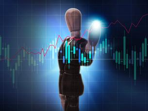株、チャート、マーケット、経済、株価を操るビジネスマンの写真素材 [FYI03130349]