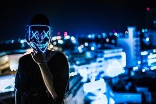 ハロウィン仮面仮装写真の写真素材 [FYI03130655]