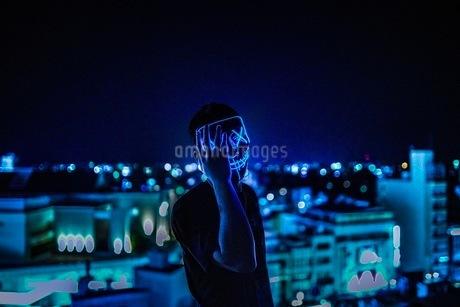 ハロウィン仮面仮装時間の写真素材 [FYI03130656]