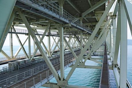 明石海峡大橋の構造の写真素材 [FYI03130924]