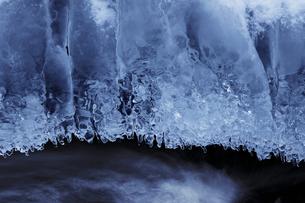 渓流の飛沫氷の写真素材 [FYI03130952]
