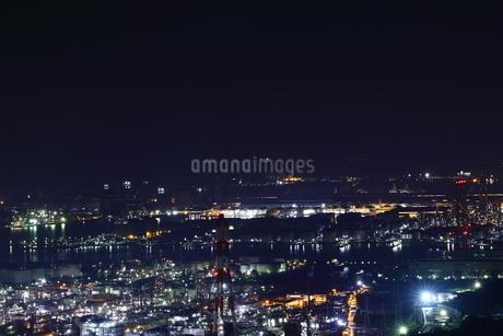 水島工業地帯の夜景の写真素材 [FYI03131074]
