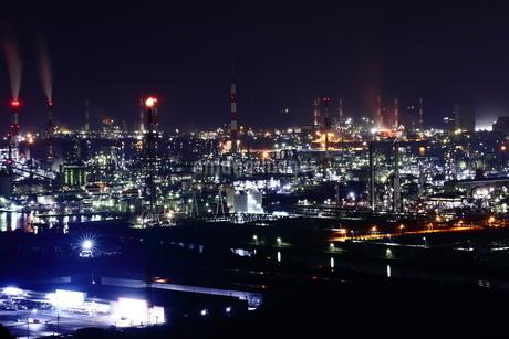 水島工業地帯の夜景定の写真素材 [FYI03131078]