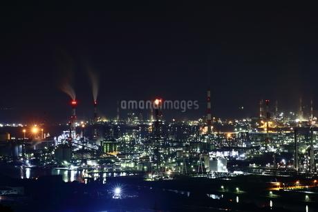 水島工業地帯の夜景の写真素材 [FYI03131079]