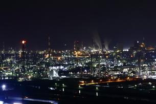 水島工業地帯の夜景の写真素材 [FYI03131080]