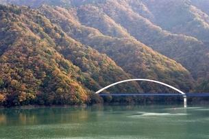 紅葉の大棚沢橋の写真素材 [FYI03131156]