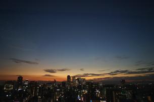 名古屋テレビ塔の展望台からの夕景の写真素材 [FYI03131189]