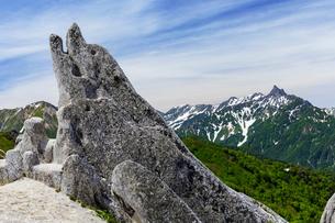 イルカ岩と槍ヶ岳の写真素材 [FYI03132264]