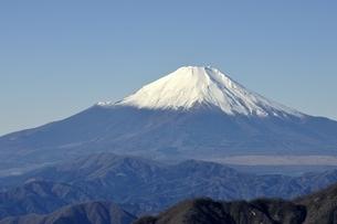 丹沢 丹沢山からの富士山の写真素材 [FYI03132436]