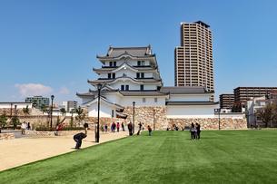 尼崎城と芝生広場の写真素材 [FYI03132464]