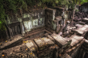 カンボジア・ベンメリア遺跡の風景の写真素材 [FYI03132534]
