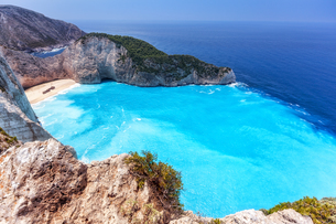 ギリシャ・ザキントス島 シップレックビーチの写真素材 [FYI03132546]