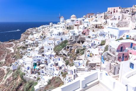 ギリシャ・サントリーニ島 イアの街の写真素材 [FYI03132553]