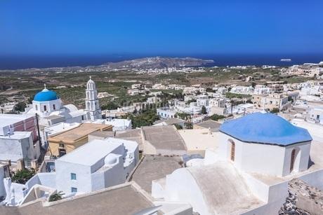 ギリシャ・サントリーニ島 エンポリオの街の写真素材 [FYI03132561]