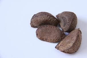 殻つきブラジルナッツの写真素材 [FYI03132794]