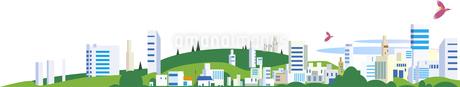 高層ビルやマンションの見える地平線の街並みタのイラスト素材 [FYI03132804]