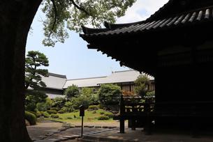 古い仏堂と日本庭園の写真素材 [FYI03132893]