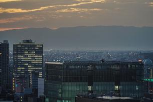 名古屋テレビ塔の展望台からの夕景の写真素材 [FYI03133595]