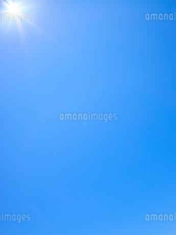 青空 太陽 背景素材の写真素材 [FYI03135133]