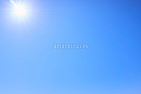 青空背景 太陽の写真素材 [FYI03135137]