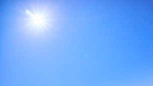 青空 太陽の写真素材 [FYI03135138]