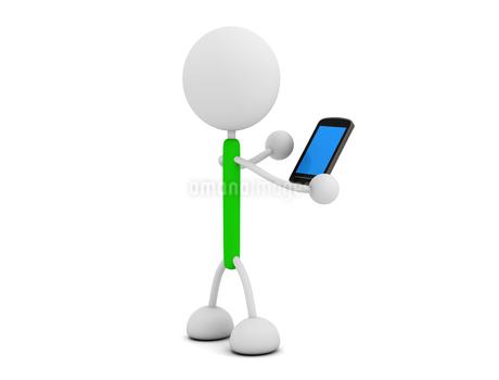 スマートフォンと棒人間のイラスト素材 [FYI03135328]