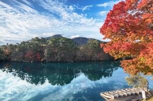 福島県・裏磐梯 毘沙門沼 1の写真素材 [FYI03135799]