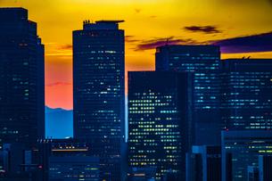 名古屋テレビ塔からの夕景の写真素材 [FYI03136013]