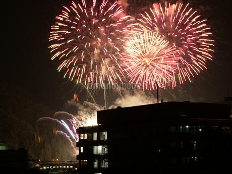 街中から見える花火の写真素材 [FYI03136027]