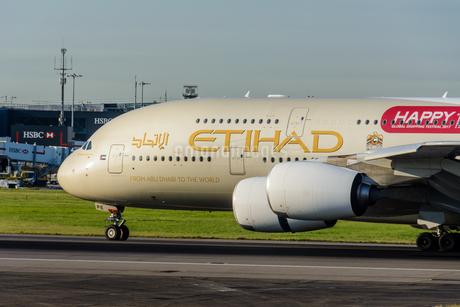 エティハド航空 EY A380の写真素材 [FYI03136166]