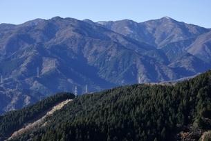 丹沢山地の山稜の写真素材 [FYI03136537]