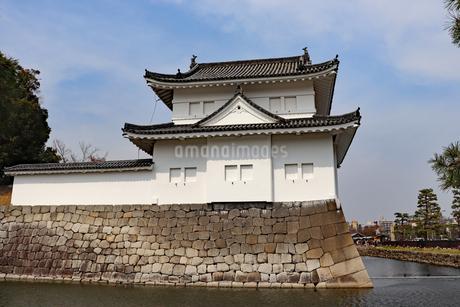 京都・二条城の櫓の写真素材 [FYI03136730]