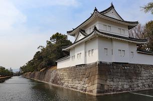 京都・二条城の隅櫓の写真素材 [FYI03136732]