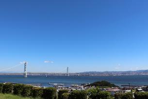 淡路ハイウェイオアシスから明石海峡を望むの写真素材 [FYI03136768]