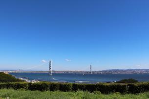 淡路島から眺める明石海峡の写真素材 [FYI03136769]