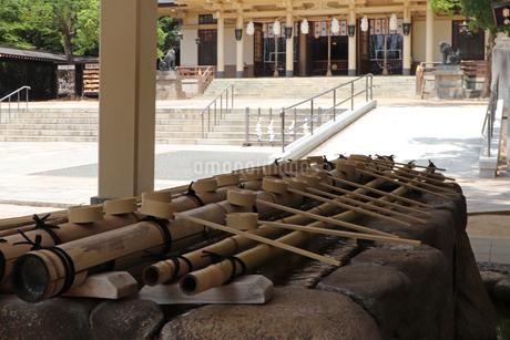 神社の手水舎の写真素材 [FYI03136796]