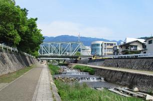 都会の清流・住吉川の写真素材 [FYI03136857]