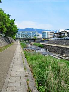 神戸・住吉川の遊歩道の写真素材 [FYI03136858]