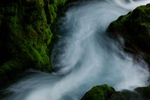 乗鞍山麓、五色ヶ原の桜根滝上流の風景の写真素材 [FYI03137027]