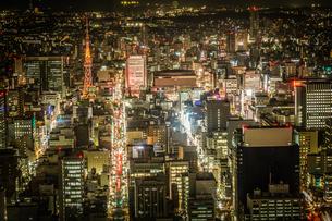 名古屋の夜景(スカイプロムナードから)の写真素材 [FYI03137075]